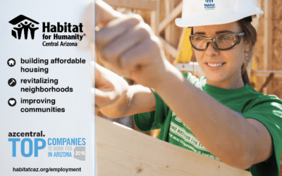 Habitat for Humanity Central Arizona Named a Top Company to Work for in Arizona