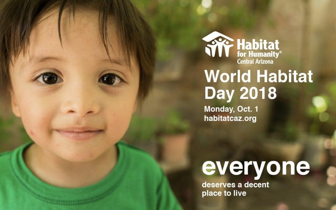 World Habitat Day in Central Arizona