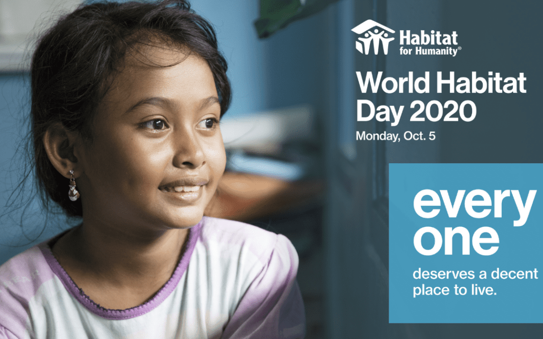 Join us in celebrating World Habitat Day 2020!
